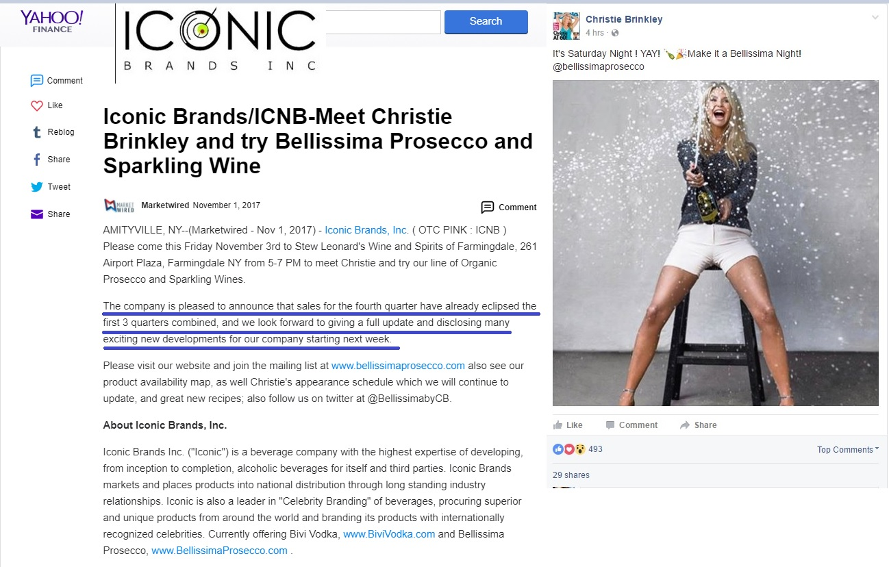 Iconic brands inc icnb christie brinkley is only worth about christie brinkley is only worth about 130 million dollars that she earned herself ill take my chances with christie geenschuldenfo Images